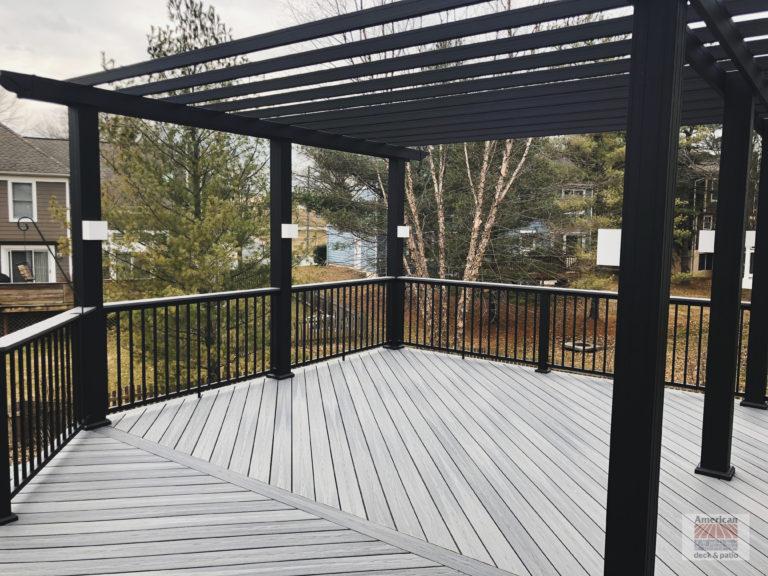 Black Aluminum Trellis and rails