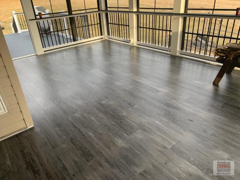3 Season Room with LVT Flooring